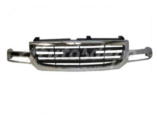 Bundle For 03-07 Sierra 1500Ld Grille Chr//Blk Park Headlight Support Panel 7Pcs