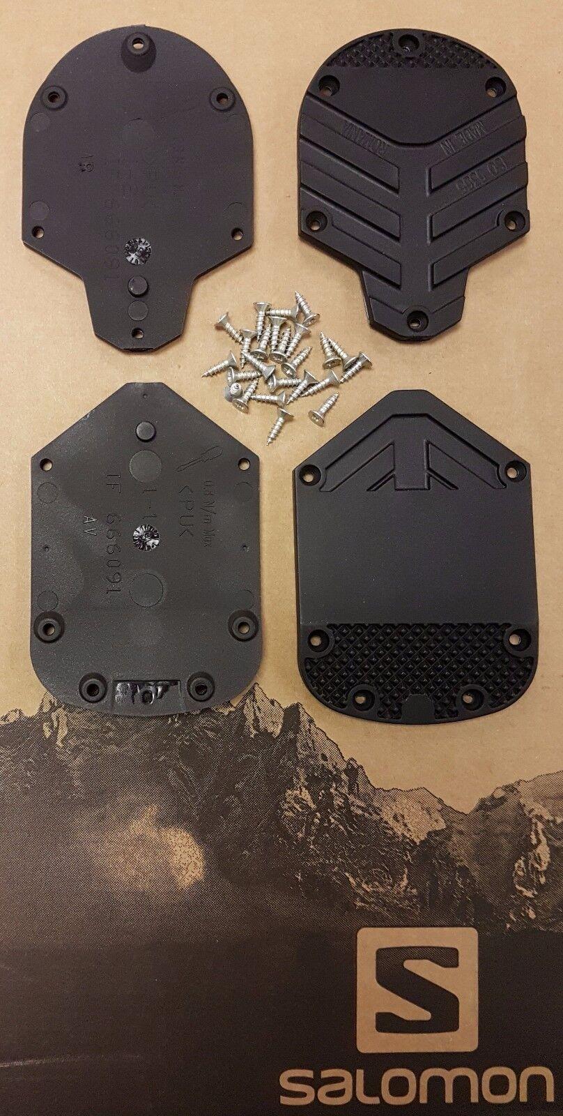 NEW SKI BOOT REPLACEMENT SOLES HEELS = SALOMON 487450 8mm