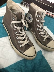grey converse high tops Unisex Size 5