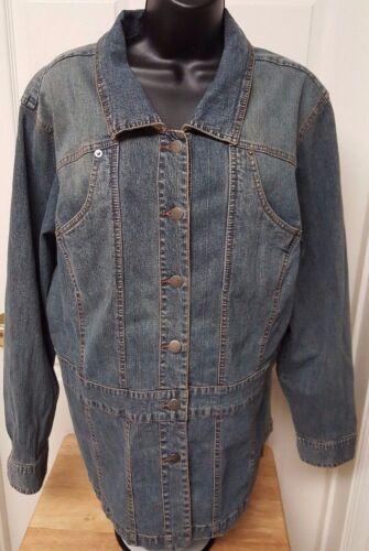 Venezia Womens Blue Jean Jacket Coat Size 18 20