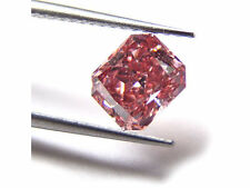 0.66ct Natural Loose Fancy Intense Orangy Pink Diamond GIA Red Tone Radiant SI