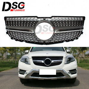 For mercedes benz glk x204 2013 2014 front grille mesh for 2013 mercedes benz glk350 accessories