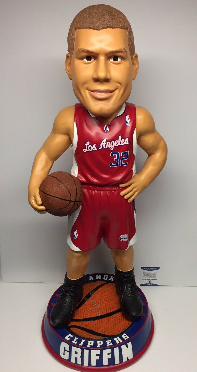 Blake Griffin Signed Clippers 36in-3 FT Basketball Bobblehead Beckett C17490