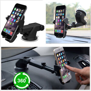 Universal Windshield Car Mount Cradle Holder Dash Suction Stand For Cell Phone
