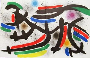 MIRO-LITHOGRAPH-IX-ORIGINAL-LITHOGRAPH-1975-FREE-SHIPPING-IN-THE-US