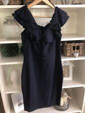 Frauen Kleid mit Schleife hinten,in Dunkelblau 36//38
