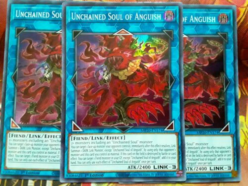 Yugioh Unchained Soul of Anguish X3 Super Rare MP20 1st Ed Near Mint Playset