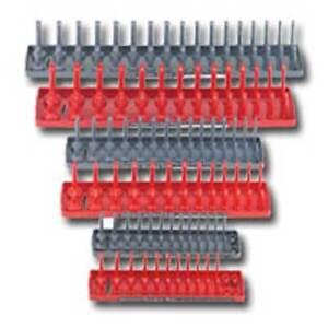 """Hansen Global 92000-1//4,3//8,1//2/"""" SAE /& METRIC Socket Organizer Trays  6pc Set"""