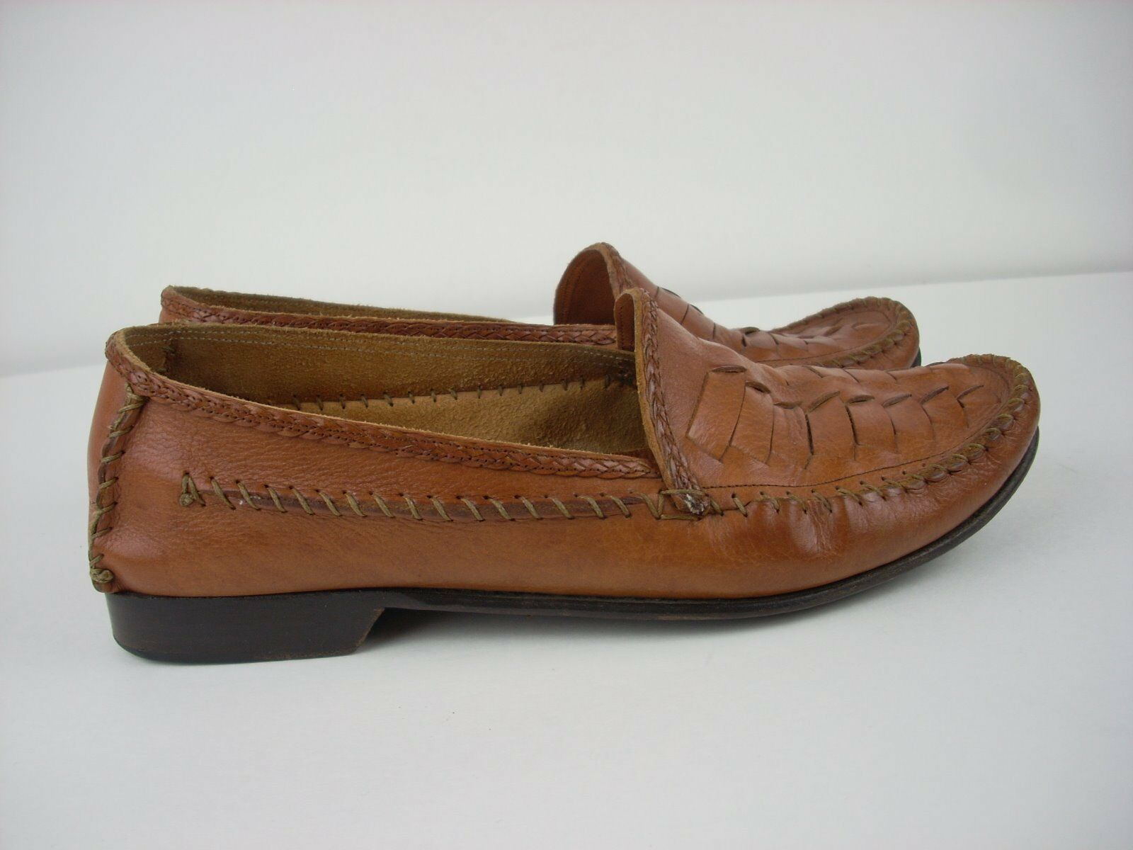 COLE HAAN Tan 8 1/2 Medium Loafers Tan HAAN Braun Leder Sole Bragano  Men Slip On 7637cc