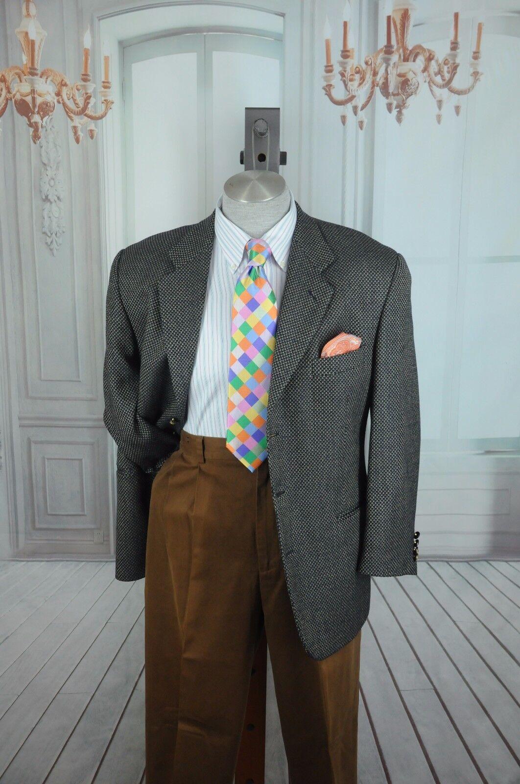 Paolo Visto Herren Marineblau & Hellbraun Dobby Wolle Sport Mantel Blazer 40 R    | Rabatt  | Elegantes Aussehen  | New Product 2019