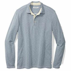 Tommy-Bahama-Men-039-s-SZ-2XL-Big-Palmetto-Paradise-LS-Polo-Shirt-120-Sail-Fish