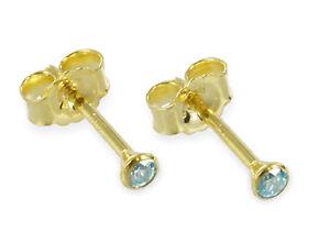 ECHT-GOLD-Zirkonia-aquamarin-blau-Ohrstecker-3-mm