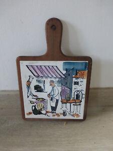 Details Sur Ancien Dessous De Plat Carrelage Decore Cuisine Souvenir Suede Annee 60 Vintage
