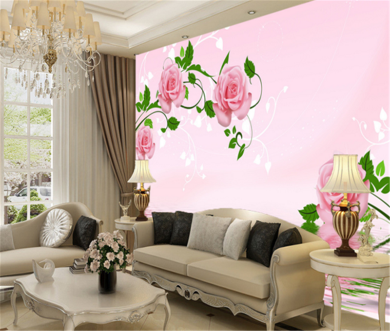 3D Flower Water 88 Wallpaper Mural Paper Wall Print Wallpaper Murals UK Carly