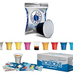 100-Cialde-Capsule-Caffe-Borbone-Respresso-Miscela-Blu-e-compatibile-Nespresso-A