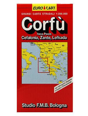 Paxos Cartina Geografica.Corfu Cefalonia Zante Cartina Stradale 1 200 000 Mappa Carta Studio F M B Ebay