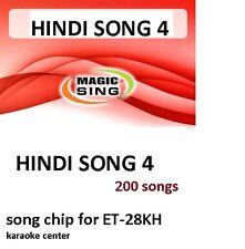 HINDI 4 Enter Tech Entertech Magic Sing Mic 200 Songs for ET28KH