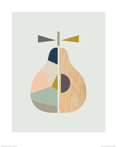 Little Design Haus Art Print  PPR43527-40 x 50cm Scandi Pear