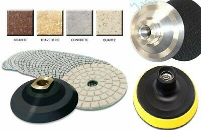 Damo Buff Granite Stone Concrete Diamond Polishing Pads 4 inch Wet//Dry 18 PCS