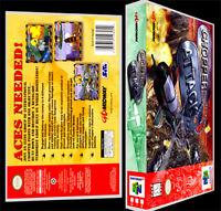 Chopper Attack - N64 Reproduction Art Case/box No Game.
