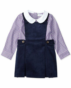 914b17957 Image is loading NWT-Ralph-Lauren-Polo-Baby-Girls-Striped-Long-