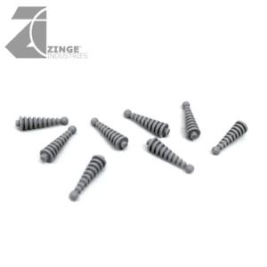 Zinge Industries bobinas de Tesla del armazón de 8 pequeñas bobinas Paisaje/bits de vehículos S-TES02 Warhammer