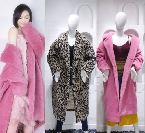 Women Feel Teddy Faux Bear Coat Long Oversized Fur Luxury 6dFqxF