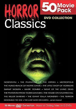 Horror Classics 50 Movie Pack Dvd 2004 12 Disc Set For Sale Online Ebay