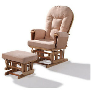 replacement cushions for glider rocking nursery chair and foot stool ebay. Black Bedroom Furniture Sets. Home Design Ideas