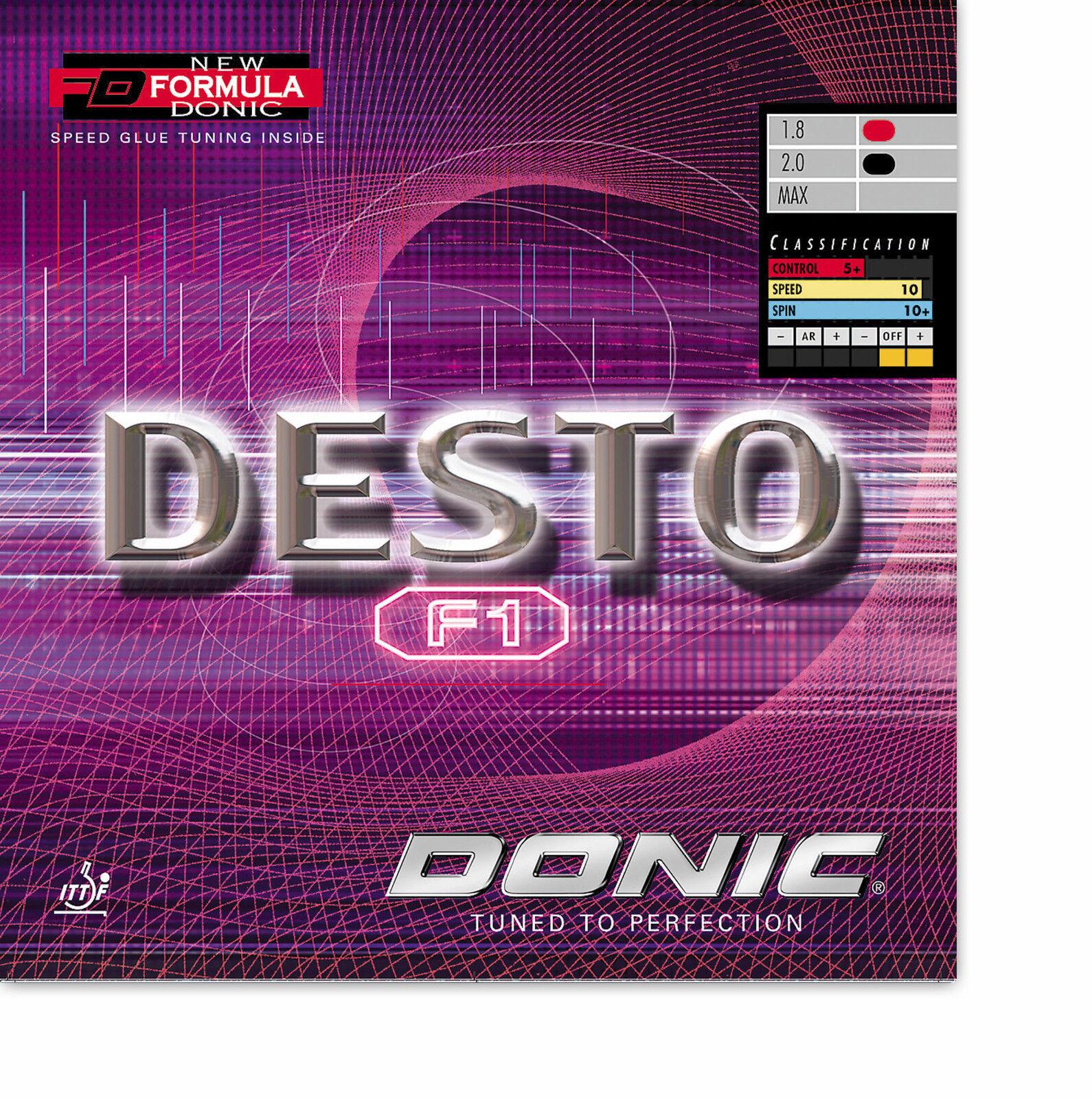 DONIC Desto F1 F1 F1 2,0mm rot NEU   OVP  | Moderne Technologie  | Produktqualität  | Online Outlet Shop  93496a