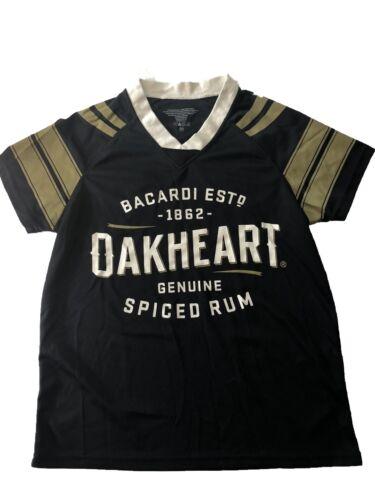 Women/'s Medium Bacardi Oakheart Rum Sports Jersey Black NEW