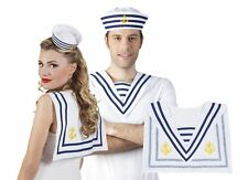 Mens Womens Navy Collar Blue White Sailor Nautical Unisex Fancy Dress Accessory