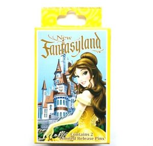 DISNEY-FANTASYLAND-BEAUTY-amp-THE-BEAST-MYSTERY-COLLECTION-PIN-BOX-2-PINS-IN-BOX