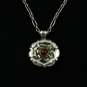 Georg-Jensen-Sterling-Silver-Pendant-of-the-Month-July-Carnelian