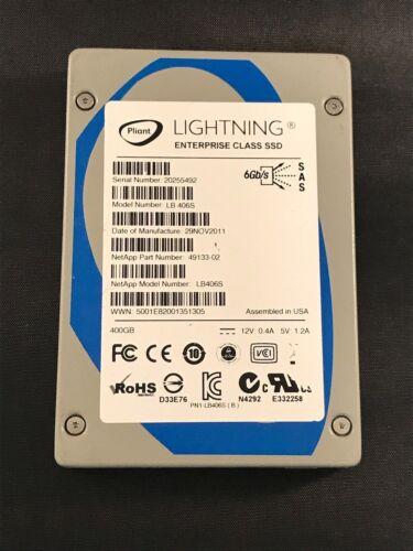 "NetApp 49133-02 400GB LB406S Pliant Enterprise 2.5/""SAS 6Gb//s Solid State Drive"