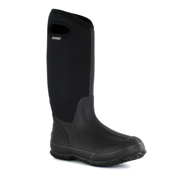Bogs Mujer Clásico Asas De Alto botas Negras Becerro Ancho 60153W-001
