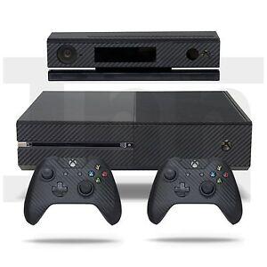 Aimable Xbox One Skin Console Contrôleur Xbox Kinect Skin Fibre De Carbone Autocollant Decal Vinyle-afficher Le Titre D'origine Moderne Et EléGant à La Mode