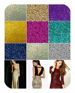 Glitz-Sequins-Fabric-By-The-Yard-52-034-W-Dress-Gowns-Tablecloth-Mesh-Spandex