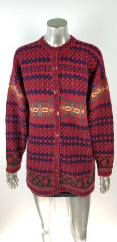 L scozzese lana 100 Cardigan in Size scozzese Edinburgh lana Large qwOwzHS1