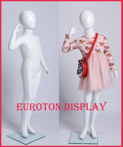Kids Doll XB-5b White Painted Abstract Display Doll Dummy Child Girl