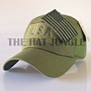 USA American Flag Patch Hat US Military Tactical Detachable Baseball ... 6942c4b9a71