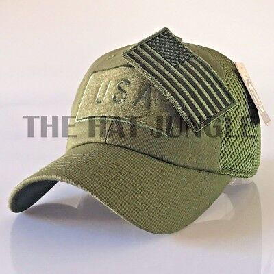USA American Flag Patch Hat US Military Tactical Detachable Baseball Cap  [Olive] | eBay