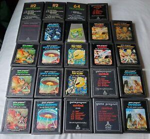 24 Atari 2600 Game Lot Game Collection Combat Berzerk Asteroids Defender Frogger