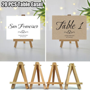 Image Is Loading 20pcs Mini Wooden Cafe Table Number Easel Wedding