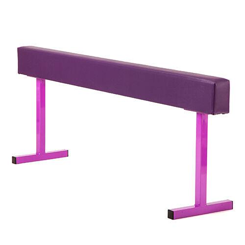 Purple 24  Faux Leather High Gymnastics Balance Beam Home Gym Training Equipment