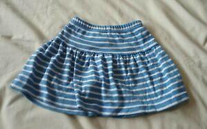 JoJo Maman Bebe Girls Blue White Stripe Skort 12-18mths Skirt Shorts