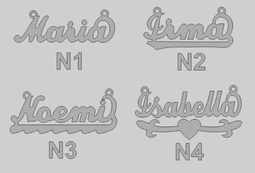 Personalized Name Necklace in 925 Sterling Silver Gift with ITALY chain N Series