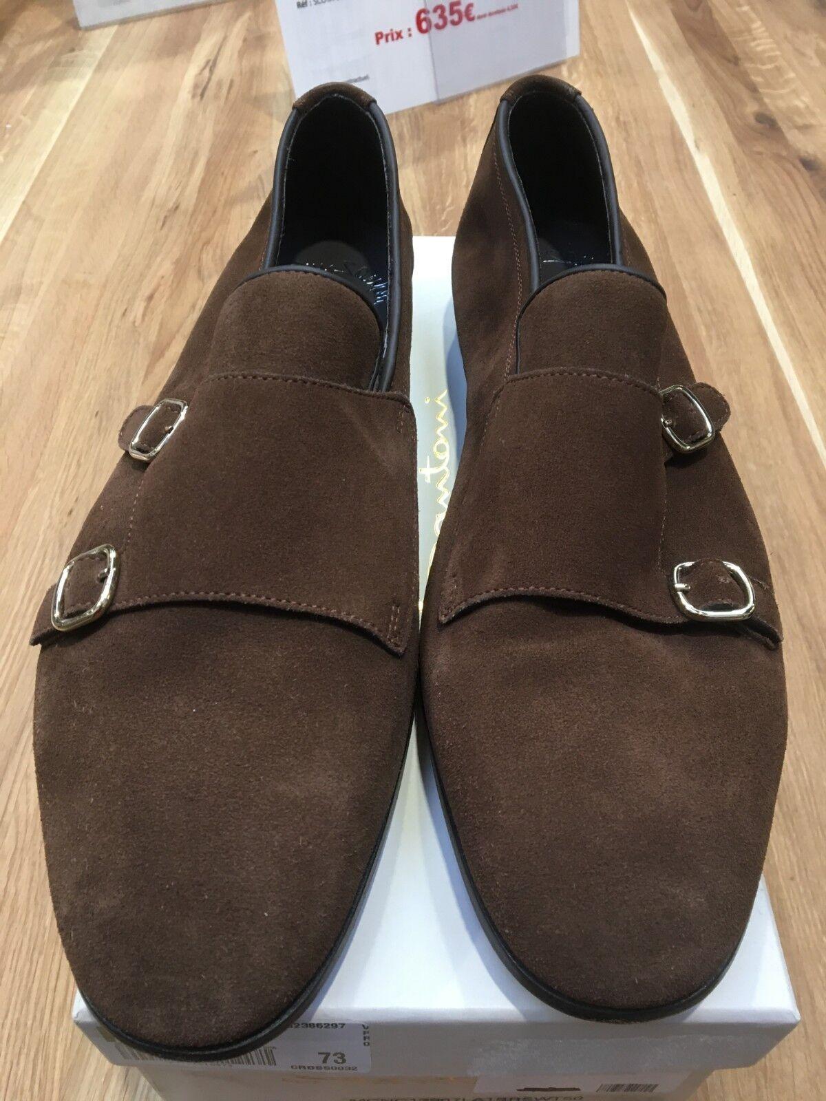 Paires de chaussure double boucle daim Santon MCNC1907LA15RSNT50 Dimensione 10,5 | Reputazione affidabile  | Uomini/Donne Scarpa
