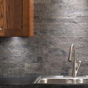 Details about Peel And Stick Tile Grey Gray Self Adhesive Stone Wall Bath  Kitchen Backsplash