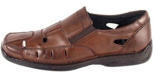 véritable bureau de plus marron garçons Nouveaux hommes d'été sandales âgés chaussures cuir travail en dxoeBrC